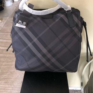Burberry nylon tote charcoal large New
